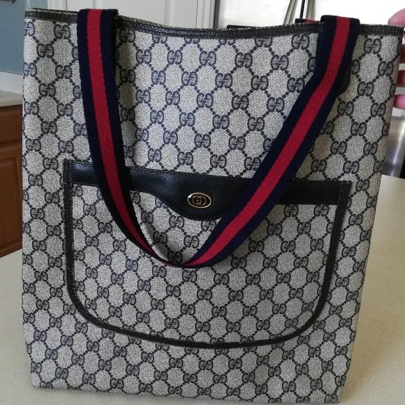 596d3547c83 Gucci Handbags - Authentic Gucci Supreme GG Plus PVC Tote